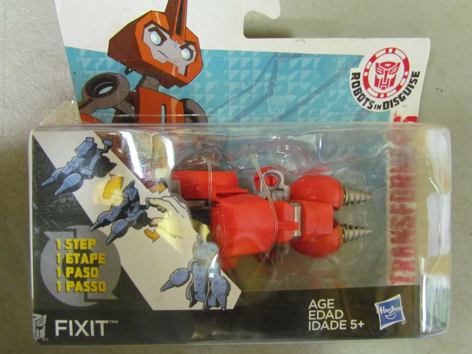 NEW Transformers Robots in Disguise One-Step Changers Fixit Figure Free Shipping
