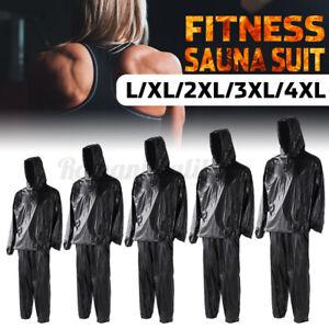 Fitness PVC Saunaanzug Schwitzanzug Schweißanzug Sauna Suit L-3XL Größe  *