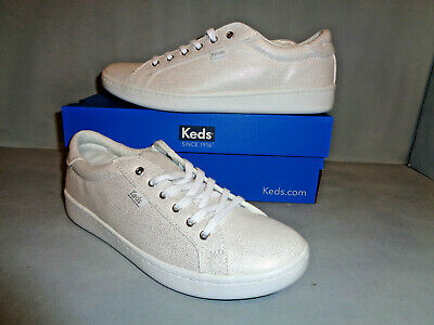 NIB So Comfy!! Keds Courty Women/'s White Leather Sneakers Sizes! NEW Widths!