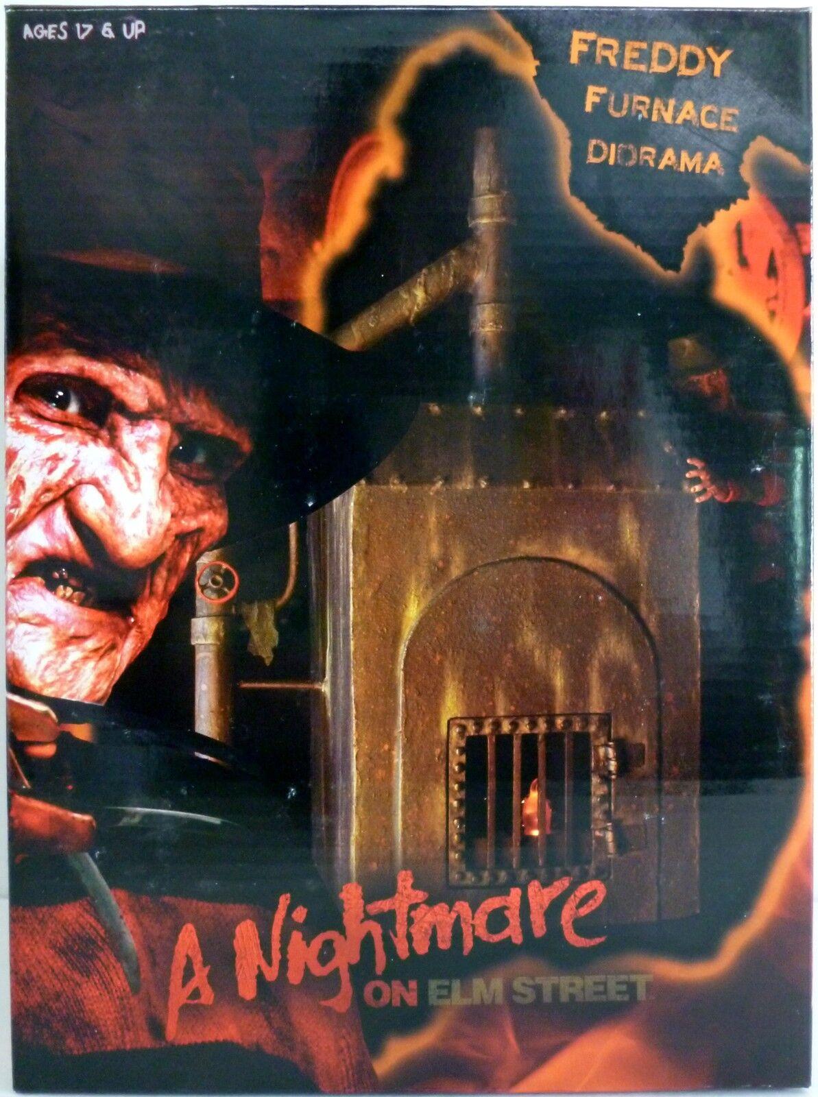 FREDDY FURNACE DIORAMA A Nightmare on Elm Street Movie 7  Scale LED Neca 2018
