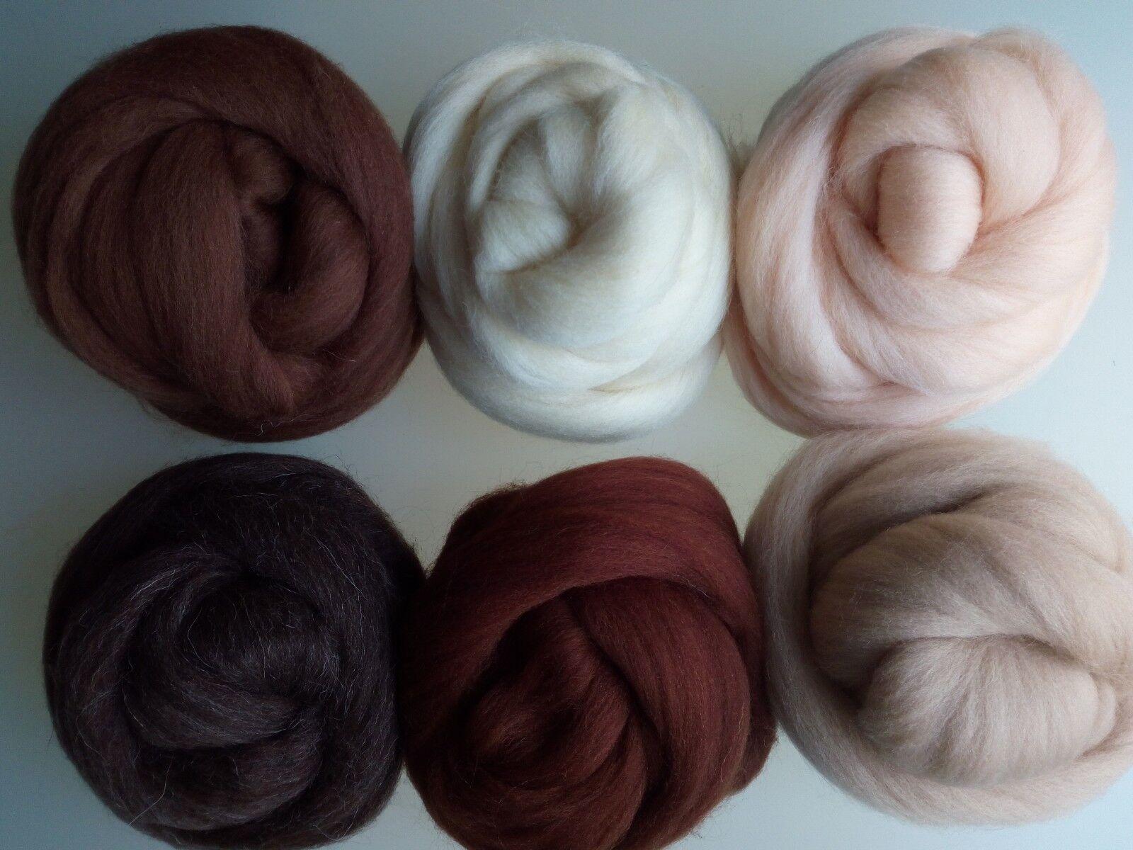 Brown Efco 50 g Wool for Felting