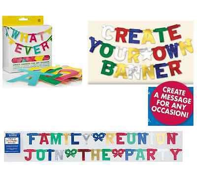 83 PIECE MAKE YOUR OWN BIRTHDAY OR PARTY OR ANY OCCASION CELEBRATION BANNER