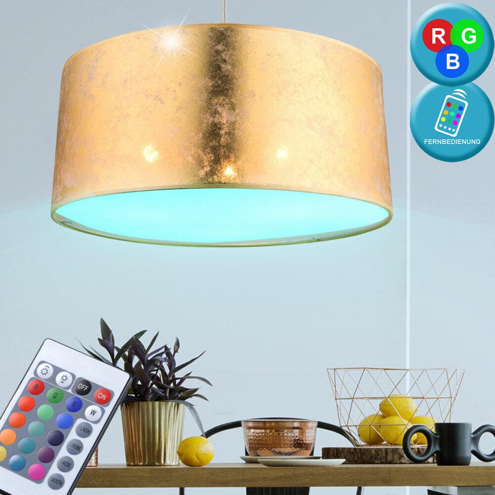 21W RGB LED Lámpara Colgante Tela Salón de Color cambiante focos Remoto Dimmer