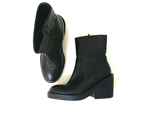 Pristine ASH black genuine leather platform chunky