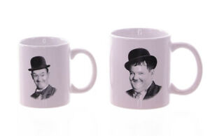 Tasse-Dick-amp-Doof-2er-Set-Laurel-Hardy-Stan-Ollie-Tasse-a-Cafe-Tasse-a-The-Culte