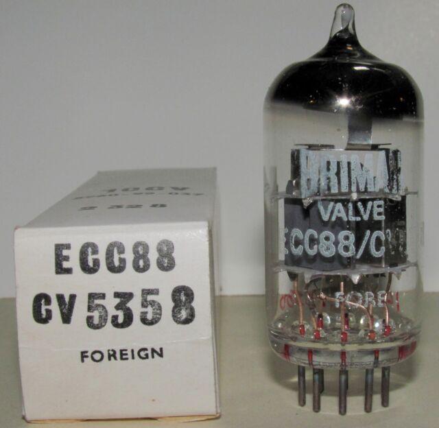 ECC88/CV5358 BRIMAR NOS BOXED VALVE/TUBE