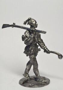 Iroquois woman Tin soldier figurine white metal Kit 54 mm  Worlds Of Fantasy