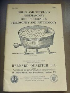 Details about Catalog of Books England 1958 Bibles Theology Freemasonry  Occult Science Philoso