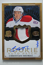 2013-14 UD The Cup CHRISTIAN THOMAS ROOKIE PATCH AUTO GOLD SP #16/60 - CANADIENS