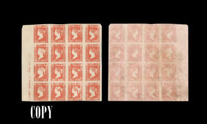 INDIA-1854-1a-LARGE-SHEET-OF-16-ESTIMATE-VALUE-6400-COPY