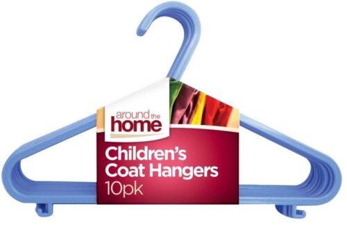 Children Kids Clothes Rangers Child Baby Coat Cloths Plastic Hanger Blue New
