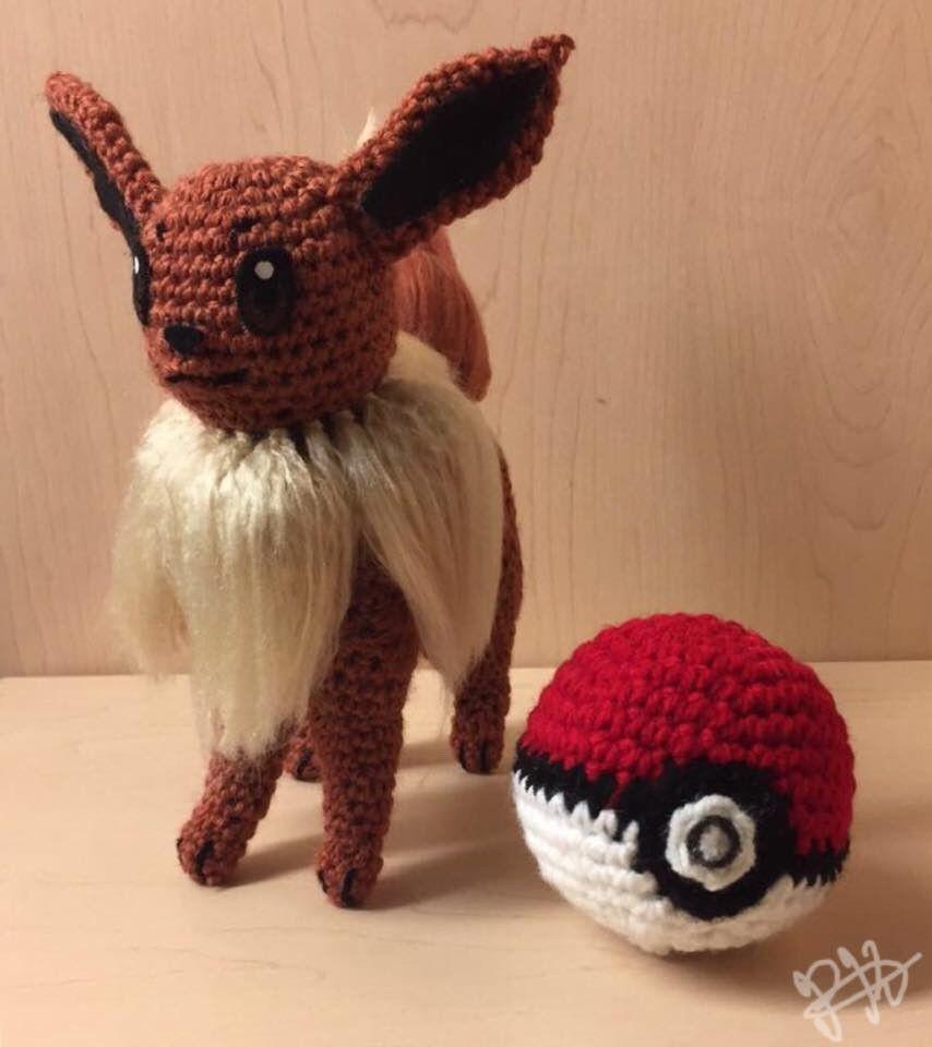 Handmade Crochet Pokemon Plush Toy-Eevee