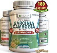100% Pure Garcinia Cambogia Extract 1500mg-ultra Safe Natural 80% Hca 180 Capsul