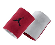 NIB Nike Air Jordan WristBand White/Red One size Fits most 2 pcs / pack