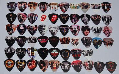 Lots of 58 pcs 0.71mm Rock Band Guitar Picks GNR  Pink Floyd Rolling Stones
