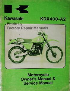 1980 kawasaki kdx400 a2 owners service manual kdx 400 motorcycle kawasaki kfx 400 review image is loading 1980 kawasaki kdx400 a2 owners service manual kdx