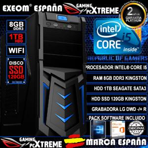 Ordenador-Gaming-Intel-i5-8GB-DDR3-1TB-SSD-120GB-WIFI-Windows-10-de-Sobremesa