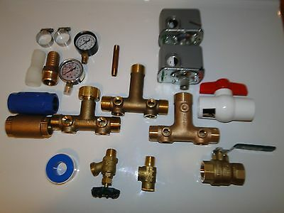 BRASS 1.25 x14 PRESSURE TANK TEE KIT POLY ADAPTER SQUARE D M4 4060 VALVES