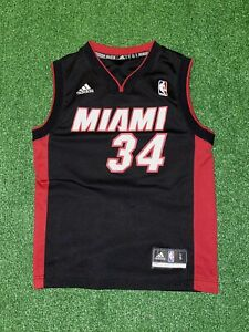 Details about Ray Allen Miami Heat Youth Small Black Adidas Swingman Jersey #34