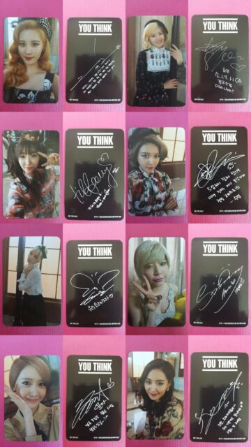 SNSD 8 pcs Full Set Official Photo Card 5th Album YOU THINK TAEYEON YOONA ...