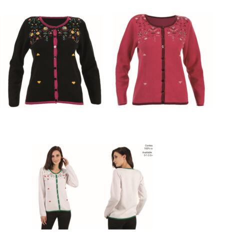 Cherry Jacket Pattern Blumenmuster Knitwear Floral Kooi Black Embroidery zwS7qZY