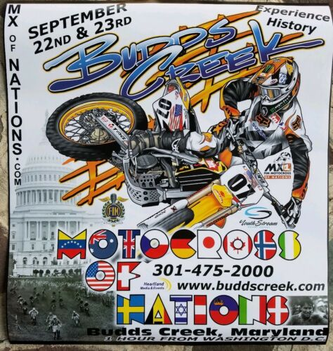 Budds Creek Kaw Honda Suz Yam 2007 Motocross of NATIONS Poster  double sided