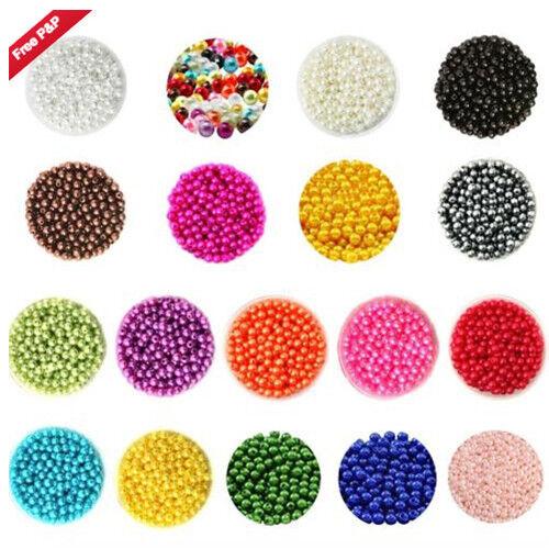 Multiple Colours in Stock! UK Seller 6mm Pearls on String 150 pcs