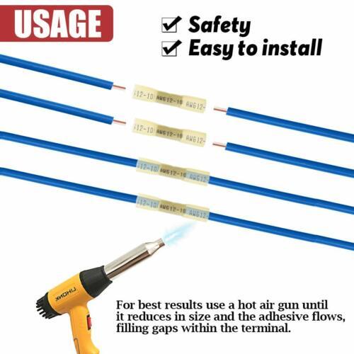 50PCS YELLOW HEAT SHRINK BUTT WIRE CRIMP CONNECTORS ELECTRICAL TERMINALS 12-10GA