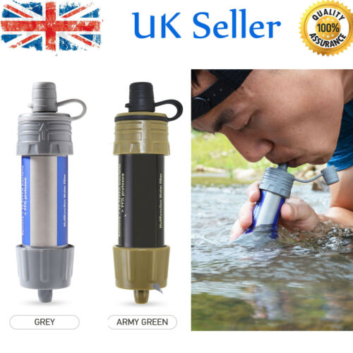 Water Filter Straw Water Filtration System Water Purifier Fr Camping Travel X0U8
