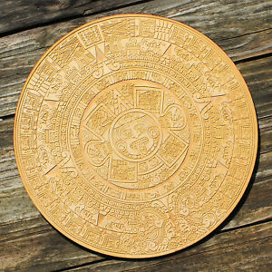 Details About Wooden The Sun Stone Aztec Calendar Decoupage Plywood Craft Work Home Decor