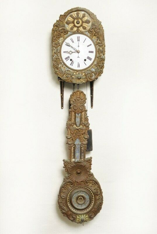 Antique French Comptoise Clock - SKU 1277