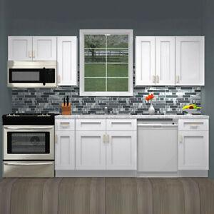 Ebay White Kitchen Cabinets LILY ANN CABINETS 10 Foot Run Wood Kitchen Cabinets RTA   Summit