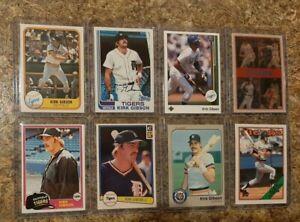 (8) Kirk Gibson 1981Topps Donruss Rookie 1982 1983 Fleer Card Lot RC Dodgers
