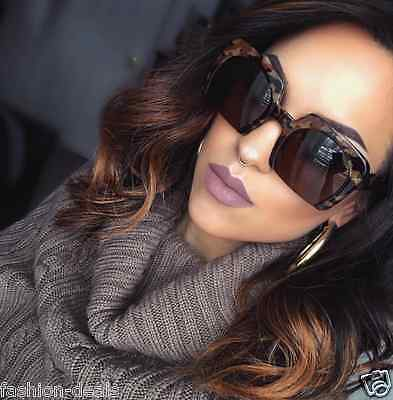 "Cutoff Semi Rimless ""RAZOR"" Round Oversized Jackie O Square Women Sunglasses"