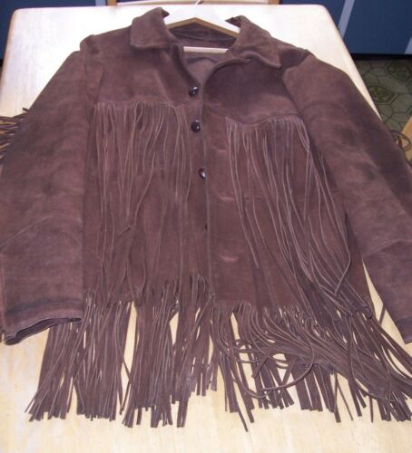 Vintage Leather / Suede Fringe Jacket from late 70