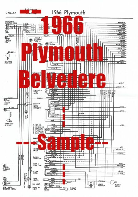1966 Plymouth Belvedere Full Car Wiring Diagram  High