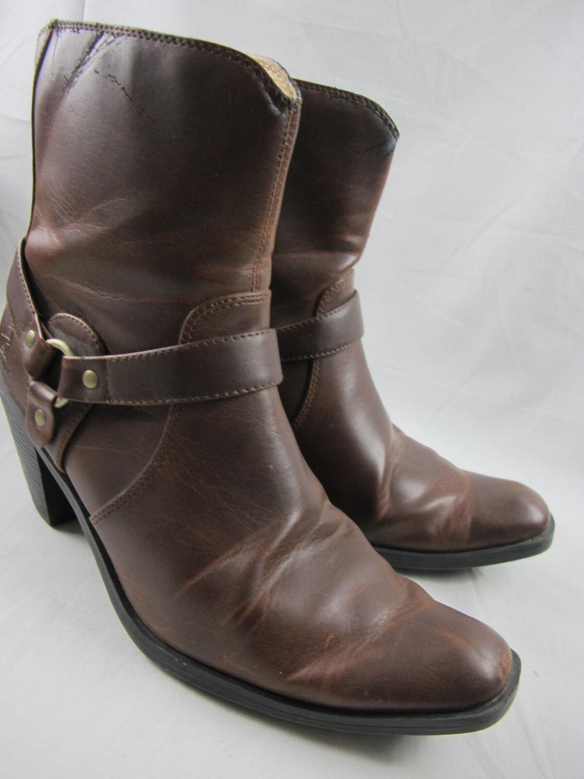Women's Durango Crush Brown Heartbreaker Boot Texas Size 9 M Cowgirl Cowboy Zip