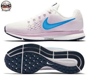 d73eca774520 Nike Air Zoom Pegasus 34 White Blue-Rose 880560 105 Women s Running ...