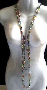 MIMCO-Damen-Halskette-mit-bunten-Schmucksteinen-NEU