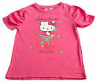 Girls Top T-Shirt Pink Hello Kitty NEW Short Sleeved 4Y 5Y 7 Years Cotton