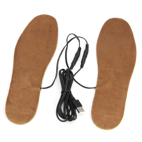USB Electric Powered Heated Winter Insoles For Shoes Boots Keep Feet Warm