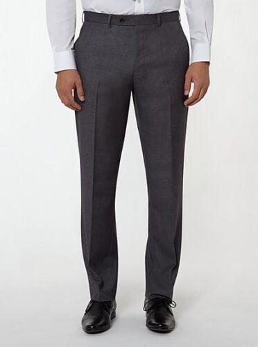 Da Uomo Smart Pantaloni Grigio Rivestito Di Teflon 30 32 34 Girovita Nuovo con Etichetta FREEPOST