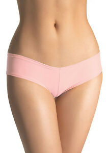 S-PALE-PINK-LOW-RISE-LYCRA-HOT-PANTS-BOOTY-SHORTS-KNICKERS-FLESH-NUDE-LEG-AVENUE