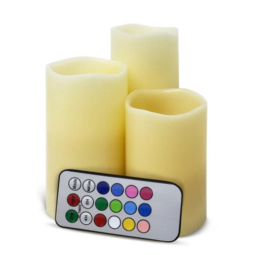 4//8 Hours Timer Candles 12 Colors Pack of 4 Flameless LED Candles