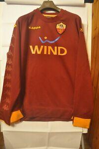 Dettagli su Maglia calcio originale As Roma Kappa sponsor Wind Training allenamento XXXL