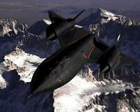 11x14 Photo: Lockheed Sr-71 Blackbird Aircraft Over Sierra Nevada Mountains