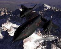 11x14 Photo: Lockheed Sr-71 Blackbird Aircraft Over Sierra Nevada Mountains