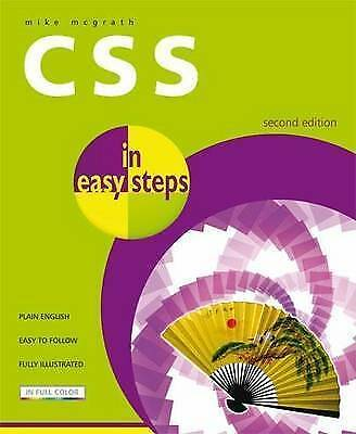"""""""AS NEW"""" CSS in Easy Steps, McGrath, Mike, Book"""