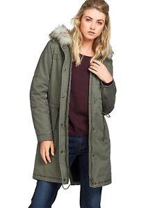 Top-Mode bis zu 60% sparen offizieller Shop Details zu X031a Tom Tailor Damen Parka Jacke mit Kapuze gefüttert (Khaki,  S)