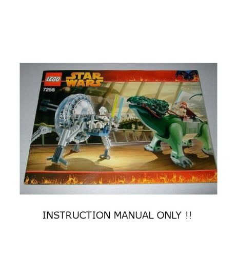 Star Wars General Grievous Chase LEGO 7255 INSTRUCTION MANUAL ONLY